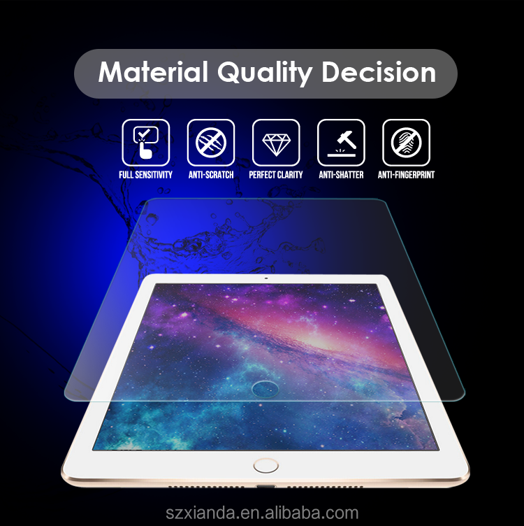 High quality 9H clear Tempered Glass Screen Gurads For iPad Air 3
