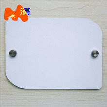 """Durable Customized Logos Blank 19*14CM MDF Door Plate For House Number"""