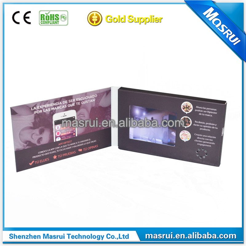 2 4 Inches Business Card Size Lcd Video Greeting Card
