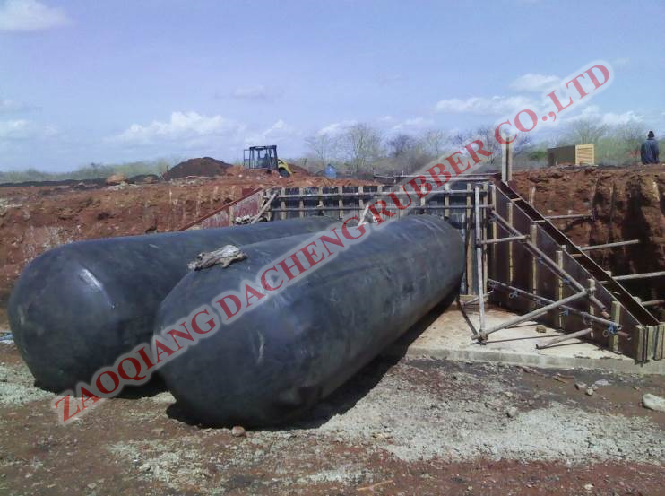 inflatable rubber balloon as culvert mould/culvert formwork