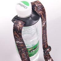Convenient and comfortable adjustable water bottle holder strap