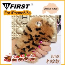 Rabbit Fur case ;Phone back case For Christmas's day coming;For Samsung Note4 flip fur cover ;