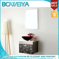 China Sanitary Ware Modern Design Corner Bathroom Mirror Cabinet