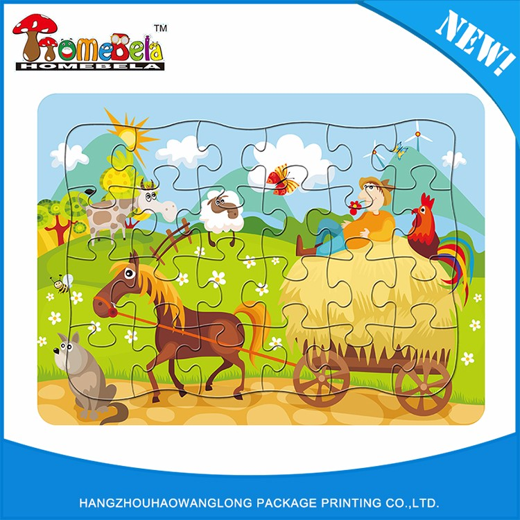 Custom Wholesale Jigsaw Puzzles Paper Toys Pattern