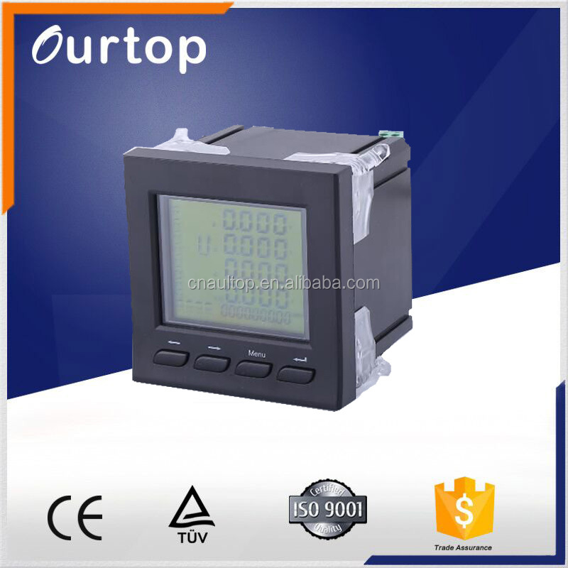 LCD display multifunction Solar digital meter type of digital voltmeter