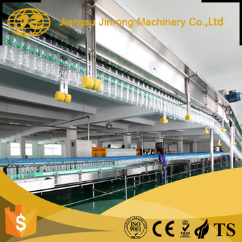 Fully Automatic Industrial pet water bottle chain small conveyors belt systems for bottled machine production line