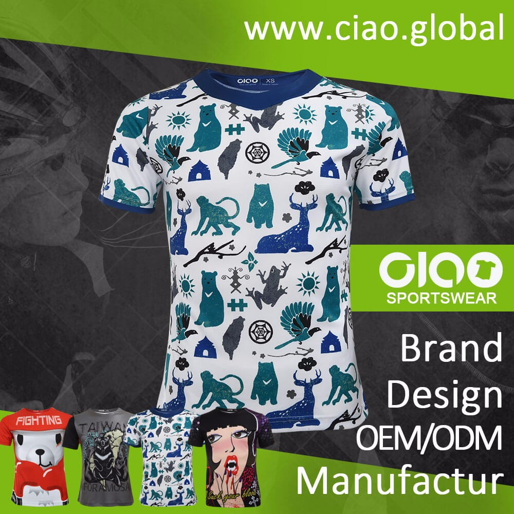 Ciao sportswear Good quality sublimation printing michael jackson olodum t shirt for kid