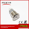 100pcs/lot 19mm diameter nickel plated brass pushbutton rotary switch with key