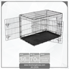 "36"" Two Doors Dog Crate with Removable Tray"