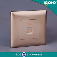 Igoto CE approved europe style electrical rj45 data wall socket outlet