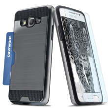 C&T Premium Wallet Case Brushed Hard Cover Card Holder for Samsung Galaxy Grand Prime G530