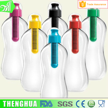 Healthy Drinking Suction Cup Travel Plastic Carbon Filter Water Bottle