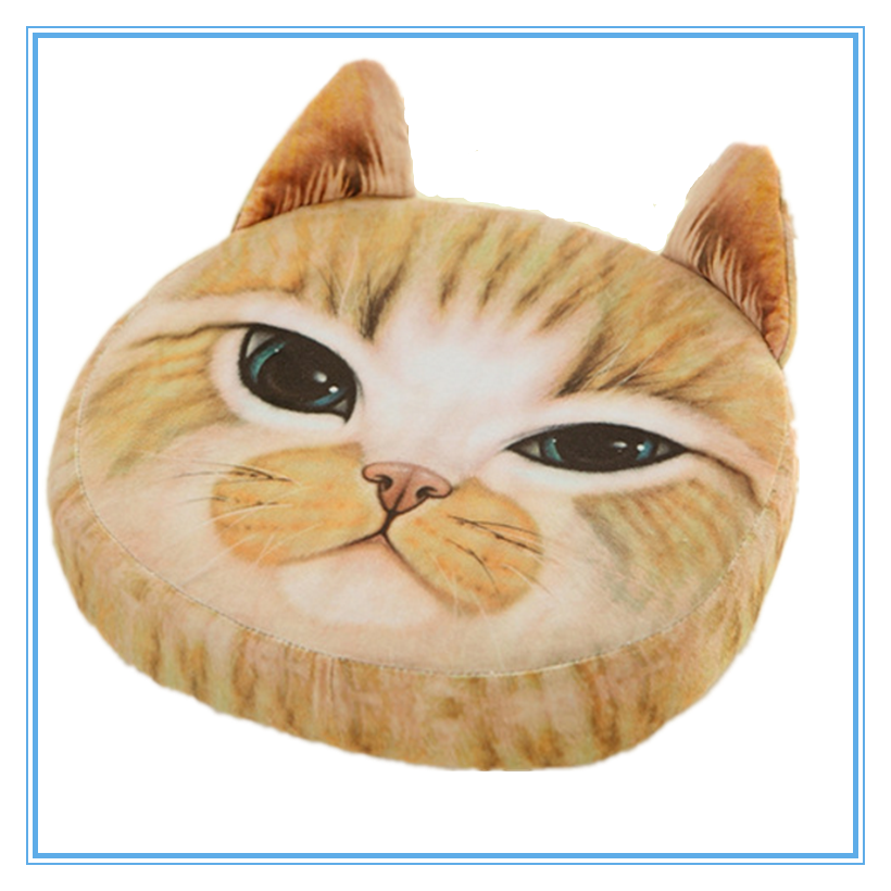 Funny Comfortable Cat Print Motorcycle Seat Cushion