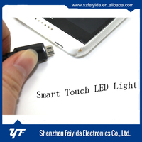 Hottest smart touch automatic led light triangle micro usb 3.0 cable with free logo printing