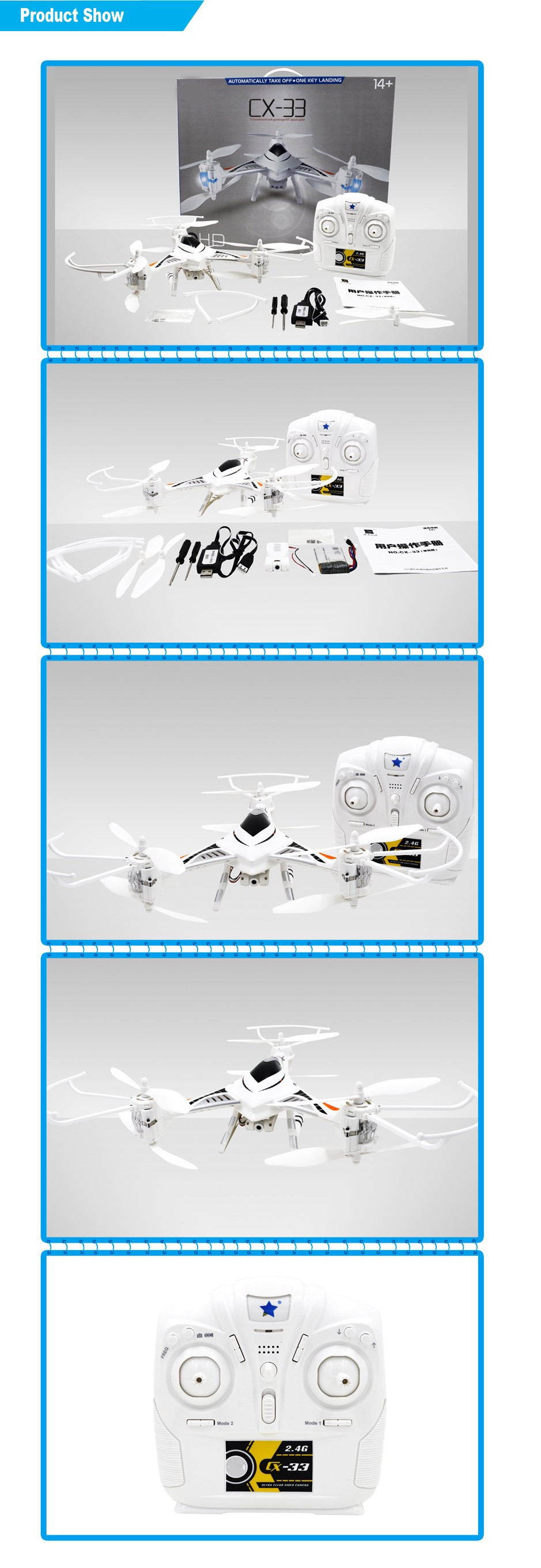 2.4G 4CH 6 GYRO Drone RC Quadcopter ufo with lights