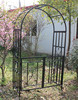 Square Tube Metal Garden Arch with Gate/Rosenbogen mit Tor