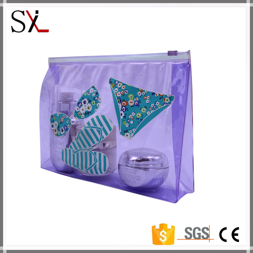 High Quality Competitive Price Clear PVC Zipper Bag, Clear PVC Pouch Black Made In China