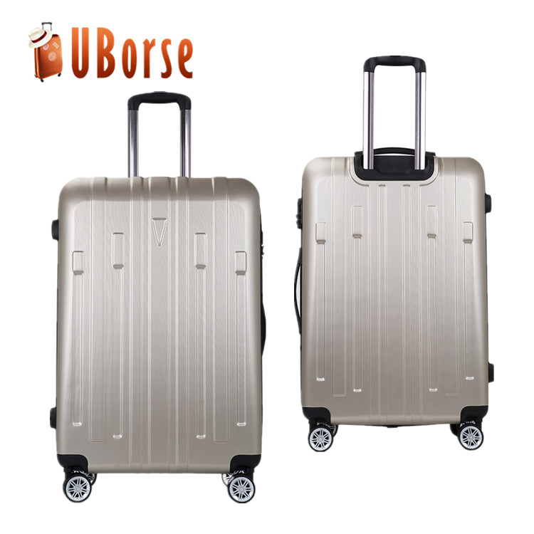 Factory cheap abs luggage, hard shell trolley luggage for travelling