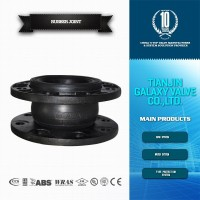 single ball rubber expansion joint with floating flanges