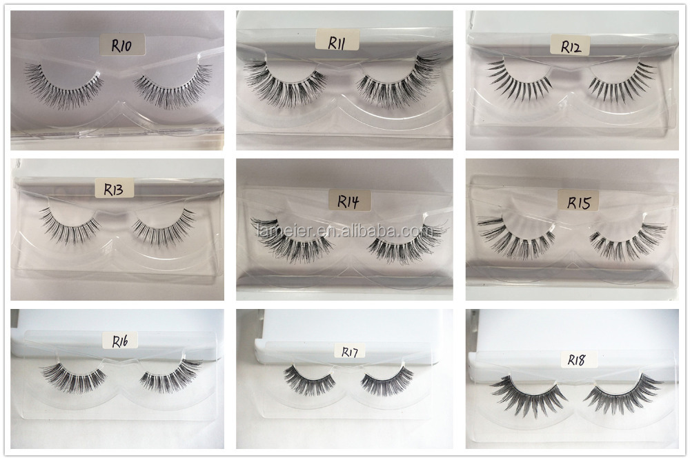 100% handmade human hair eyelashes,Indonesia human hair lashes