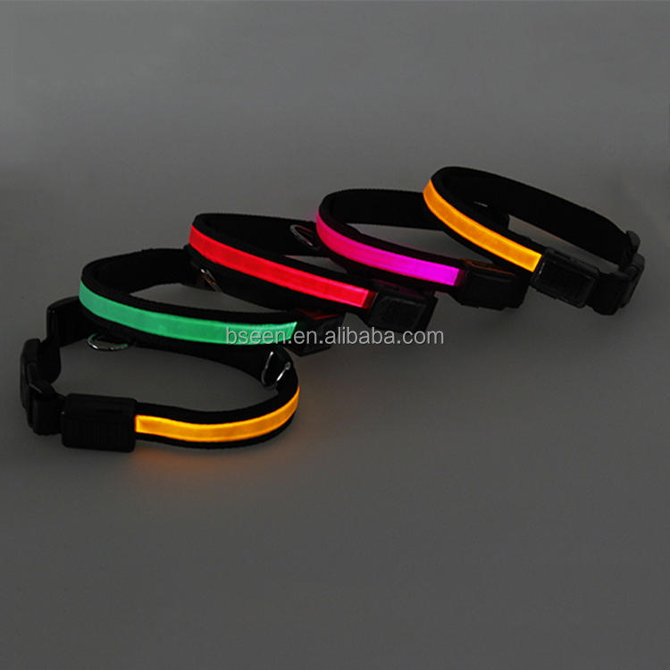 Safety Items Pet Collar Making Supplies Beautiful Design Luminous Pet Accessories Colorful LED Bracelet Dog Collar
