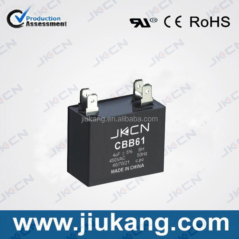 cqc, ce certification cbb61 4uf 450v sh capacitor used for fan