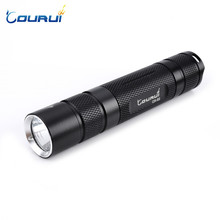 COURUI CR-S2 XPL V6/1A EDC White LED Flashlight +18650 battery +USB Charger
