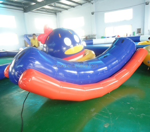 Floating totter for water game, inflatable water equipment, inflatable water seesaw
