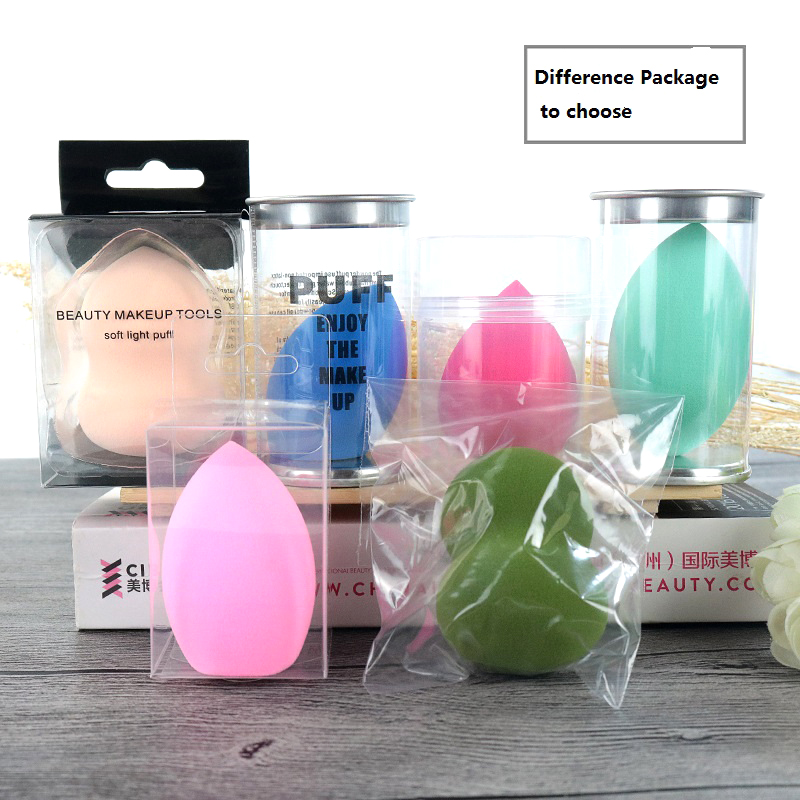 Custom Logo Packaging Shaped Latex Free Non-Latex Refillable Powder Make Up Remover Gourd  Makeup Power Puff
