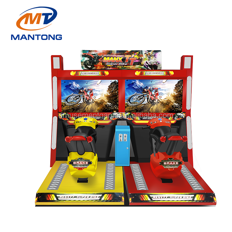 2018 TT moto 42 inch race simulator coin operated arcade car racing game machine