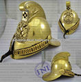 Fire helmet, Brass fireman helmet, Antique brass armour helmet