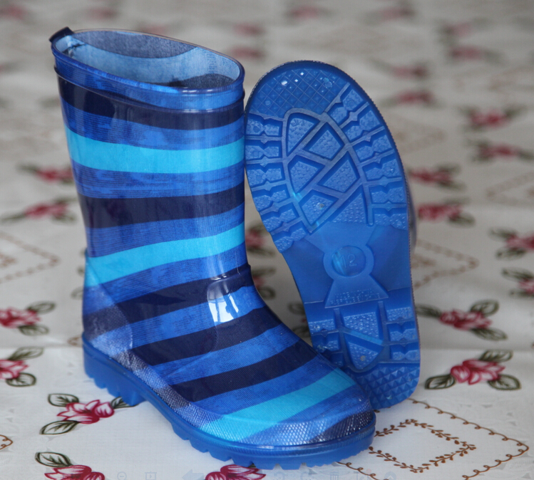 High Quality Kids Transparent PVC Rain Boots With Light
