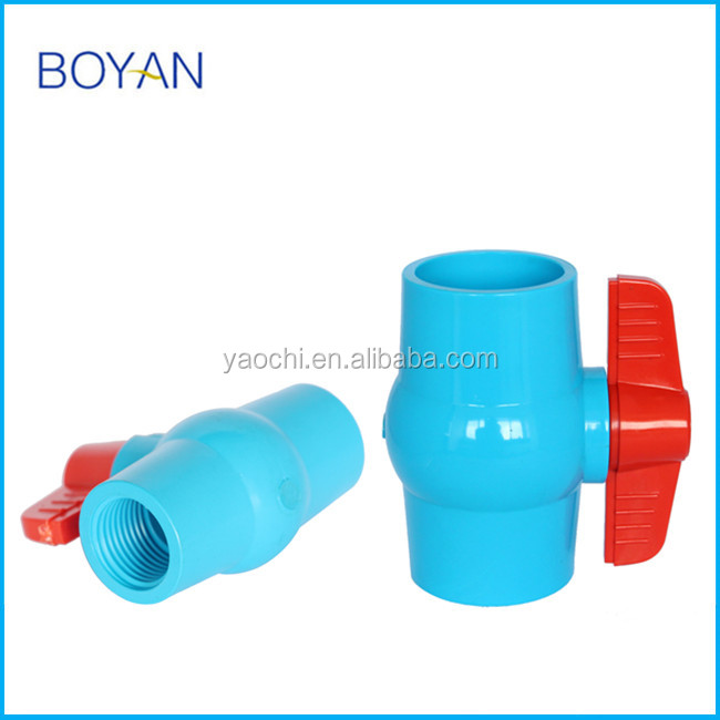 "1/2"" -6"" inch Plastic 2 way Water Tap Connector Pipe Joint Ball Valve"