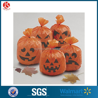 Halloween Leaf Bags Large Plastic Gift Sacks Halloween Pumpkin Design