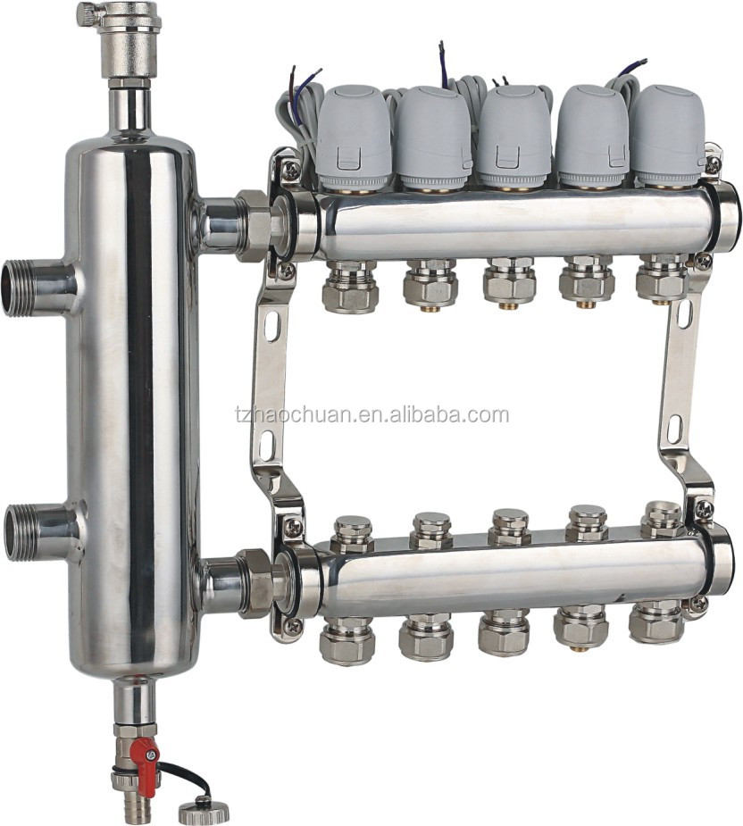 underfloor heating manifold with WATTER MIXING TANK stainess steel