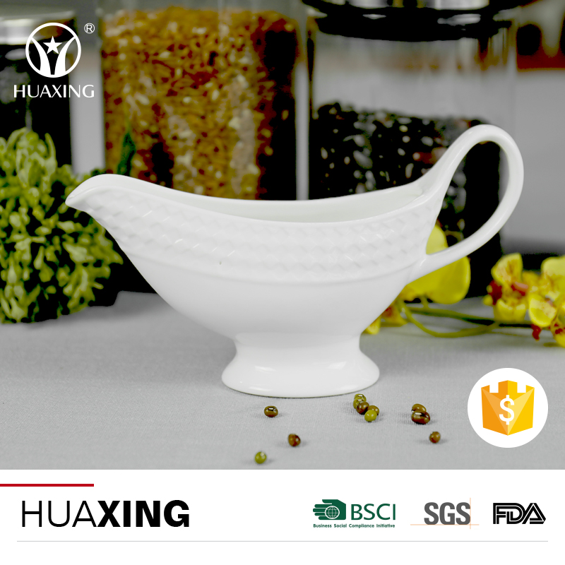 Heat popular new style 8oz personalized ceramic gravy boat for sauces