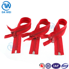 DW high quality beautiful color fancy head auto lock slider yiwu open end nylon zipper