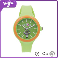 Cheap wholesale high quality kids rubber silicone watch ,cartoon watch for students