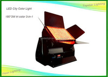 Ip55 Waterproof Led Wall Wash Light Outdoor Led Washer 180 x 3w 3-In-1 Led City Color Light Sky Projector
