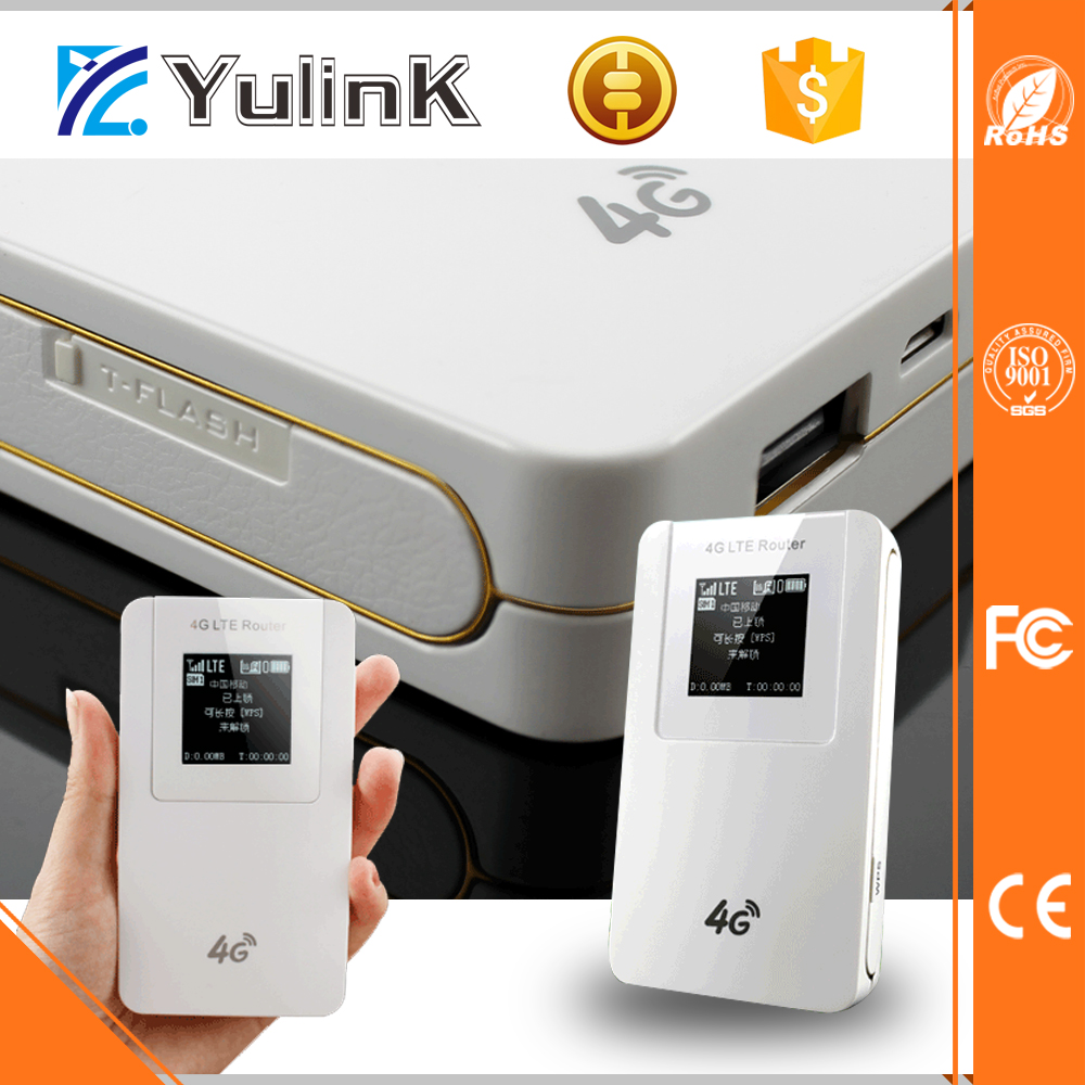 LTE Cat4 speed 4g lte lan port modem 4650mah Power bank 4g router
