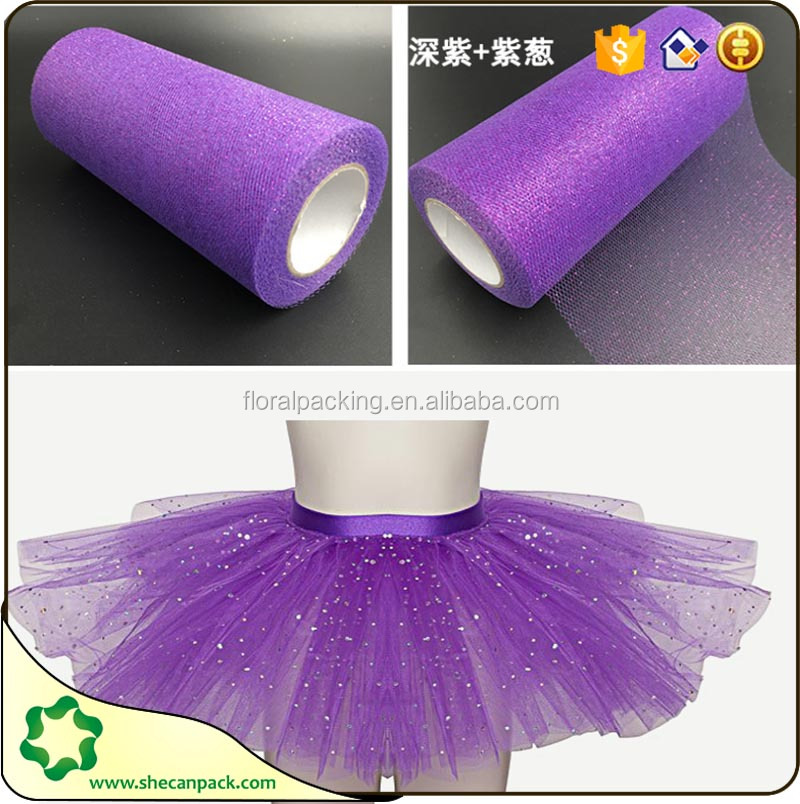 SEHCAN supply 6inch by 25 yards purple Roll Tutu tulle