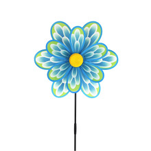 custom design nylon fabric garden flower toy <strong>windmill</strong> with best price