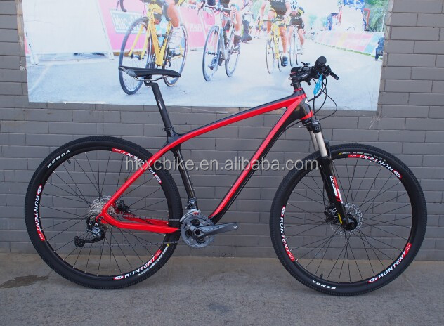 "Professional Red Carbon <strong>bicycle</strong>, 2015 new style 29er 19""special chinese carbon 29er bike"