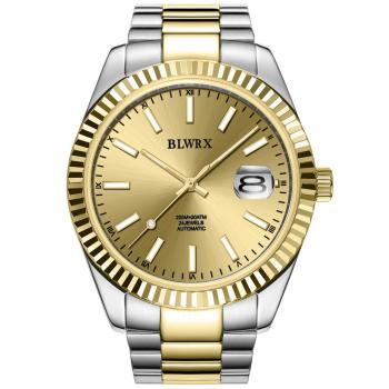 BLWRX top brand quality gold watch automatic self-wind sapphire crystal