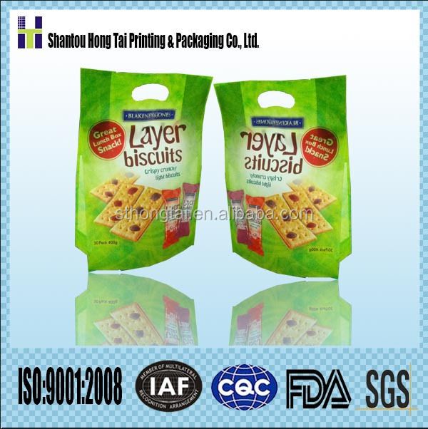 HT flexible laminated printing and packaging cookie food packaging material