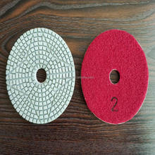 wet polishing pad 3steps for concrete renew