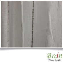 SGS certified Continuous linen poly fabric for curtain