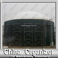 Double Membrane Fermentation Tank Cover for Storage of the Biogas
