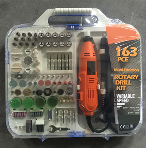 TOLHIT 163pcs 135W Portable Hobby Grinder Accessory Set with Flex Shaft Handheld Electric Mini Rotary Tools Kit