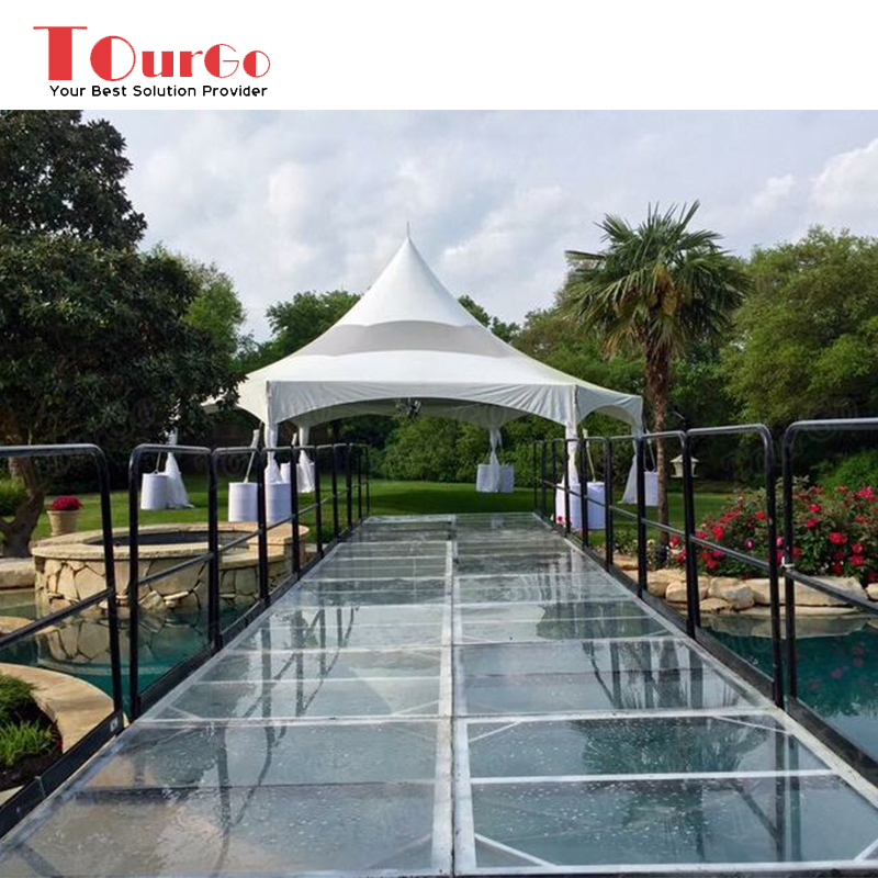 Aluminum Stage Design Acrylic Walkway Stage Platforms with Portable Handrail On Sale